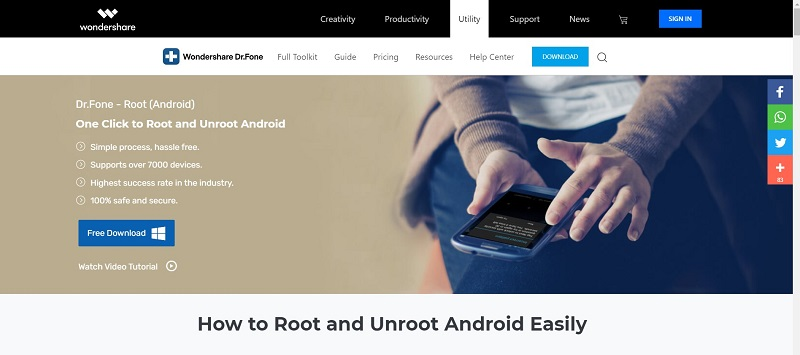 dr fone software for root